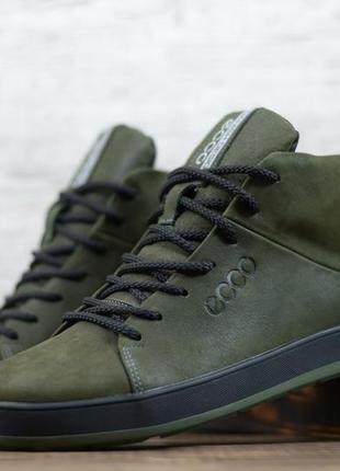 Ботинки кеды мужские зимние натуральная кожа