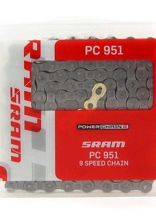 Цепь SRAM PC 951 114зв. 9 скоростей