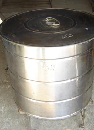 Бак из пищевой нерж. стали для столовых и кухонь в отличном состо