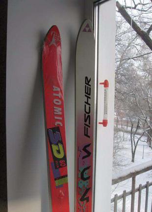 Лыжи Fisher (SC4) и Atomic (3D) Производство Австрия new