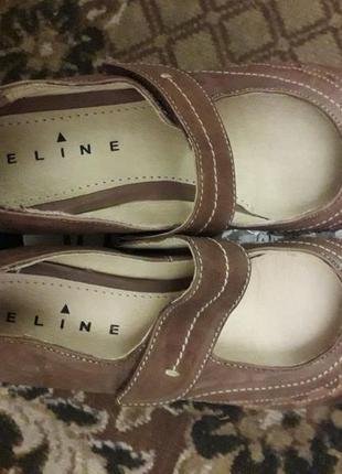 Туфли кожаные новые длина стельки 26 см