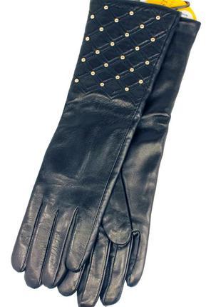 Женские кожаные сенсорные перчатки (длинные)711. все размеры