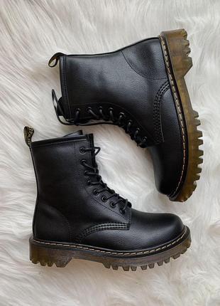 Dr. martens 1460 lux ✰ женские кожаные осенние ботинки ✰ черно...