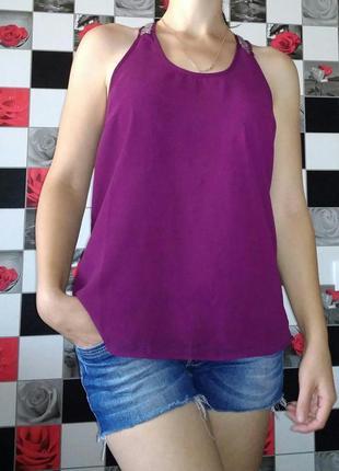 Шифоновая топ майка Sorbet Индия фиолетовый
