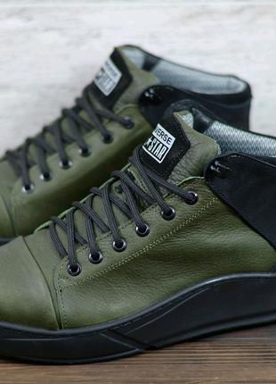 Мужские кожаные ботинки (термо)