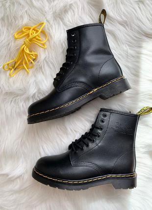 Dr. martens 1460 black ✰ женские кожаные осенние ботинки ✰ чер...