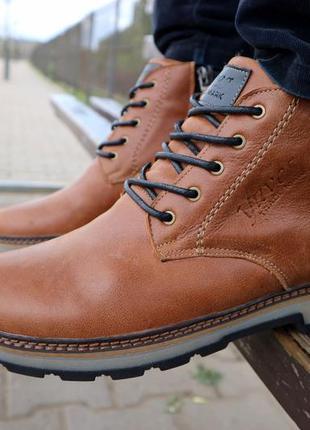 Натуральная кожа и мех! ботинки мужские зимние