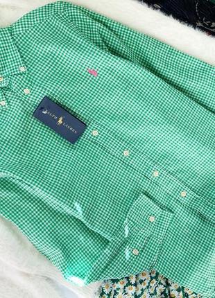 Льняная рубашка для мальчика ralph lauren