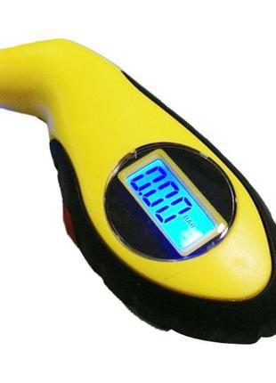 Манометр цифровой с дисплеем для измерения давления шин - желтый