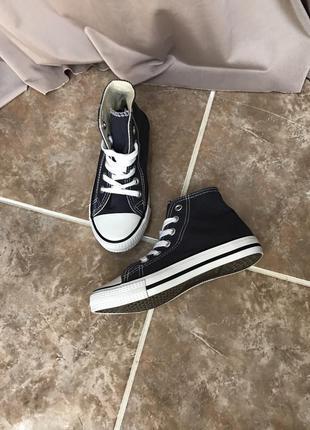 Детские кеды конверсы синие alive 30 размер классные кроссы обувь