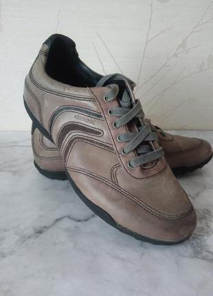 Унисекс кожаные кроссовки туфли geox respira, оригинал (не сто...