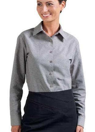 Kлассическая женская серебристо-серая рубашка-блузка, H&M