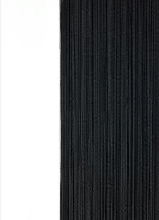 Черные шторы-нити