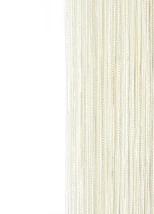 Белые шторы-нити