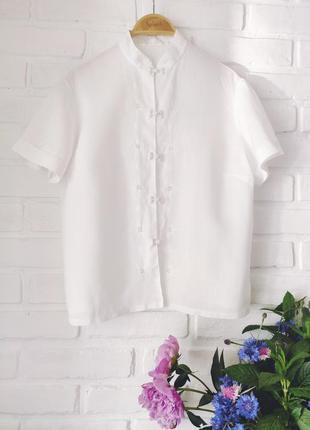 Классная, стильная, льняная блуза