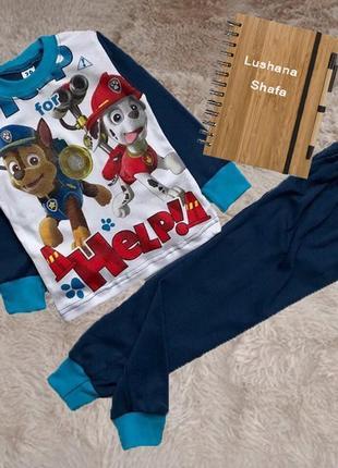 Пижама для мальчика щенячий патруль на рост 116/122 см