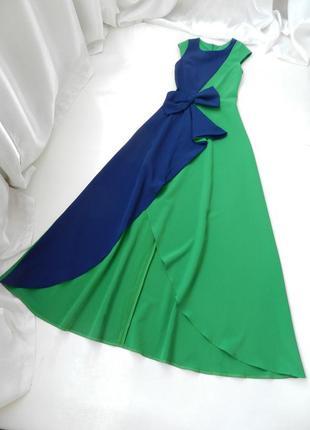 Шикарное  элегантное платье в пол с разрезом на ножке