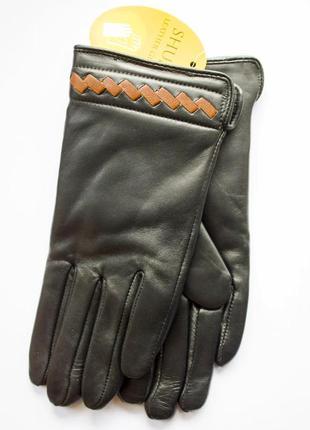 Акция! кожаные женские перчатки 747