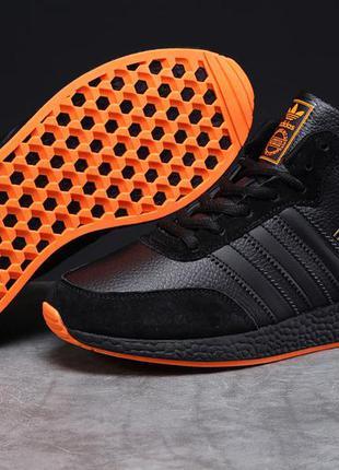Зимние мужской кроссовки 31284 ► adidas iniki, черные