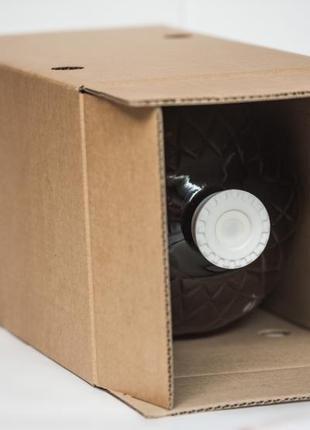 Коробка бурая 10L (КУБ) bag in box печать 1 цвет (по заказу клиен