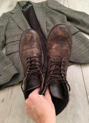 Кожаные ботинки оксфорды next