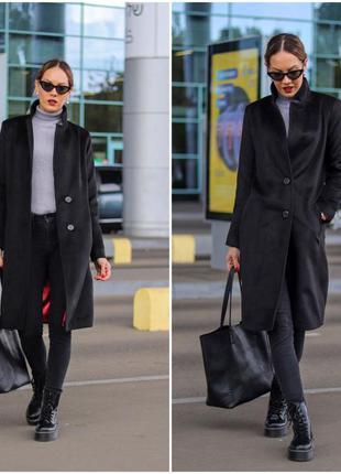 Красивое женское пальто кашемировое