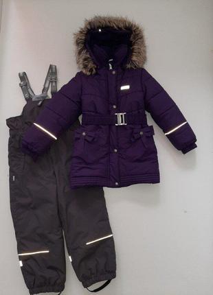 Зимнее пальто для девочки lenne р.110/6 на 4-6 лет и комбинезо...