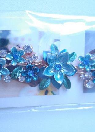 Диадема гибкая, синие цветы