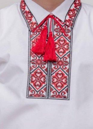 """Рубашка вышитая для мальчика """"стожари"""" р. 110, 116, 158, 170"""
