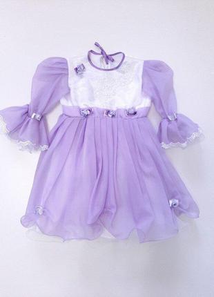 Платье фиолетовое для девочки р.98-104 на 3-4 года