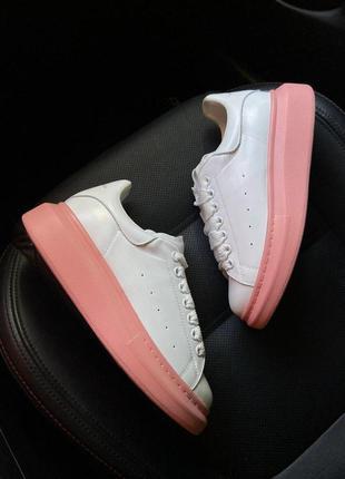 Alexander mcqueen white pink.