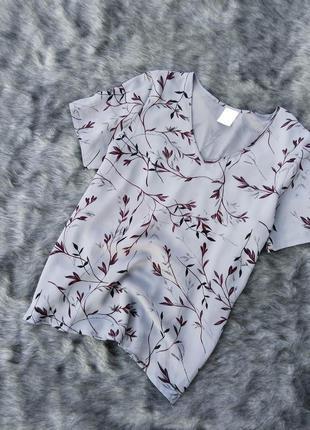 Блуза кофточка прямого кроя с принтом