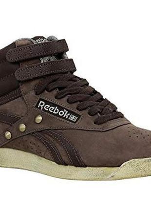 Високі шкіряні кросівки reebok р-41 стелька 27 см