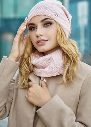 Комплект «шарлотта» (шапка и шарф-хомут)