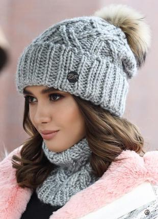 Комплект «энеис» (шапка и шарф-хомут)