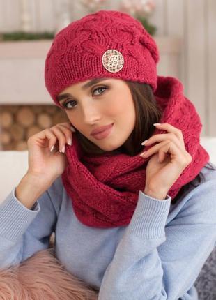 Комплект «кристель» (шапка и шарф-снуд)