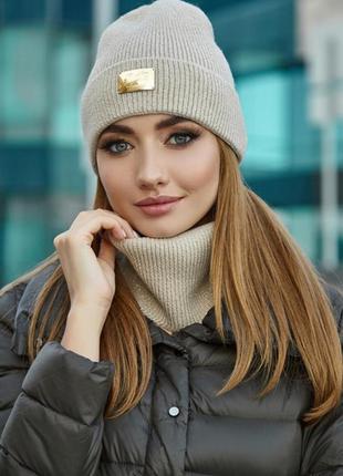 Комплект «шелли» (шапка и шарф-хомут)