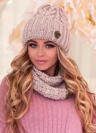 Комплект «лорис» (шапка и шарф-хомут)