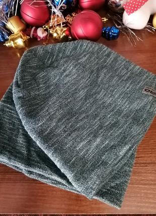 Женский комплект шапка и хомут