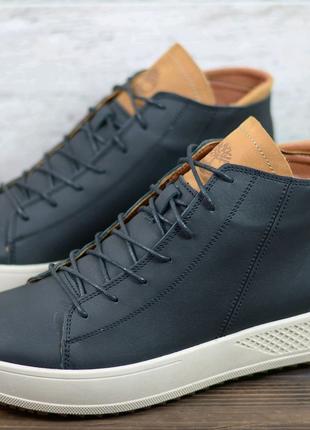 Мужские кожаные зимние ботинки Timberland 40-45р
