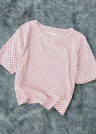 Хлопковая блуза топ кофточка прямого кроя