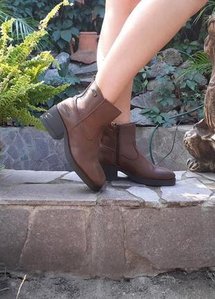 Ботинки полусапожки кожаные wrangler деми демисезонные