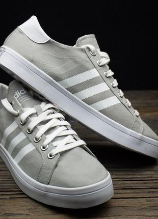 Мужские серые кроссовки adidas courtvantage s78763 оригинал