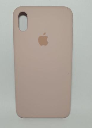 Задня накладка iPhone XS MAX Original Soft Touch Pink Sand
