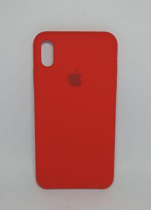 Задня накладка iPhone XS MAX Original Soft Touch Red