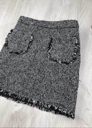 Твидовая юбка new look
