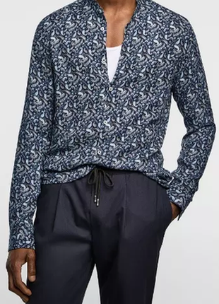 Новая zara мужская рубашка 52 54 zara нова чоловіча сорочка 52 54