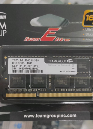 Оперативная память DDR3L 8Gb SO-DIMM 1600MHz