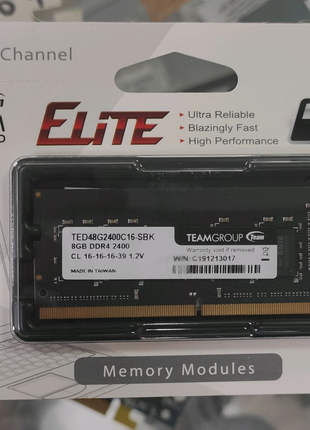 Оперативная память SO-DIMM 8GB 2400 DDR4 Team