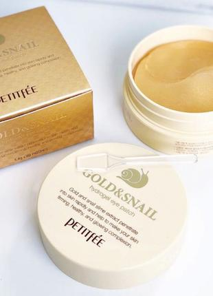 Гидрогелевые патчи Petitfee Gold and Snail Hydrogel Eye Patch